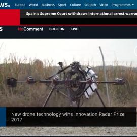 Euronews cover AEROARMS Prize