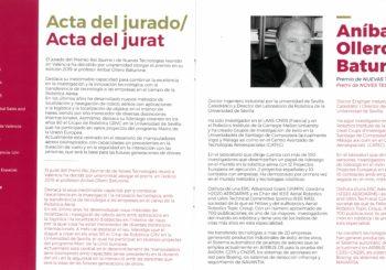 Jury Minutes for the Rei Jaume I Award