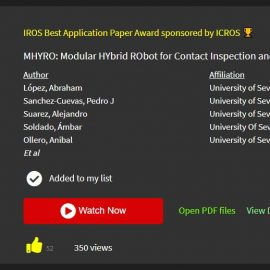 MHYRO: Best Application Paper Award