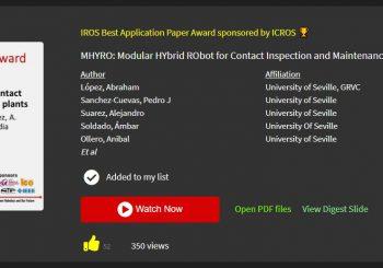 MHYRO: Best Application Paper Award