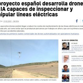 "An article in the journal ""20 Minutos"" about AERIAL-CORE"